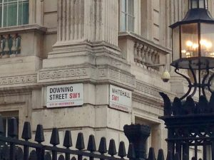 Downing Street and Whitehall Street Signs